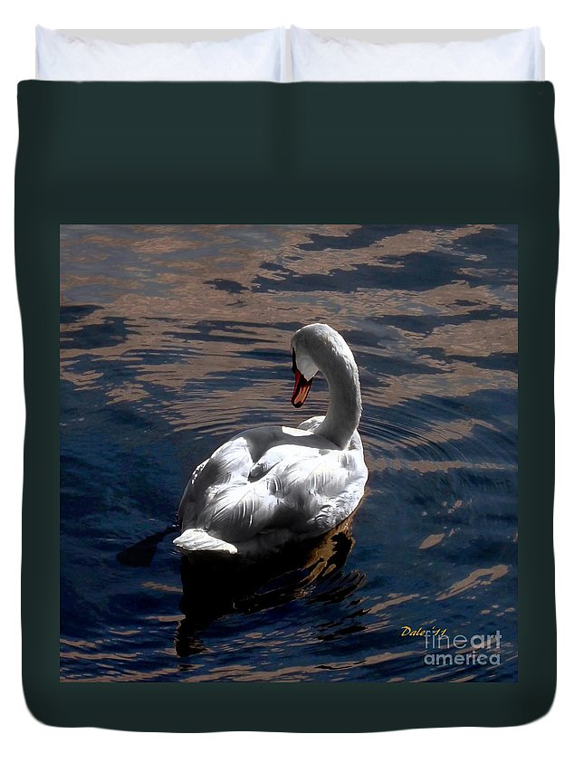 Seabirds Duvet Cover featuring the digital art Reflections by Dale  Ford