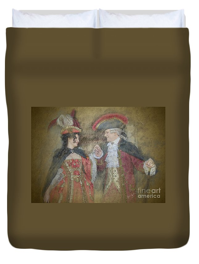 Carnevale Duvet Cover featuring the photograph Rendevous At Chopard by Kyla Applegate