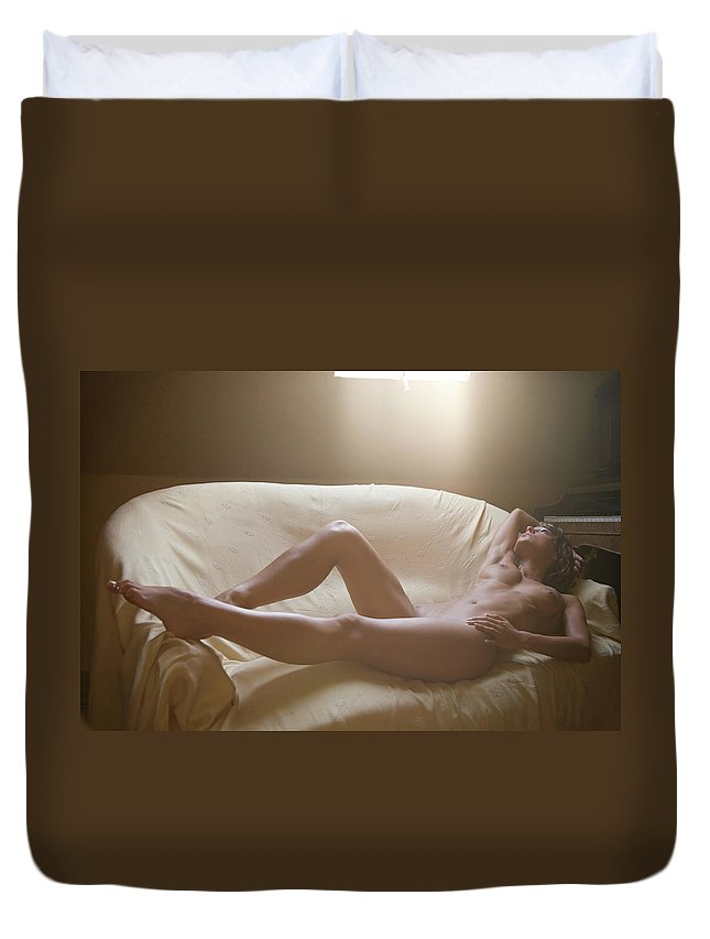 Color Duvet Cover featuring the photograph Rest In The Light by Olivier De Rycke