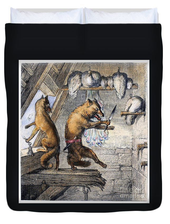 1846 Duvet Cover featuring the photograph Reynard The Fox, 1846 by Granger