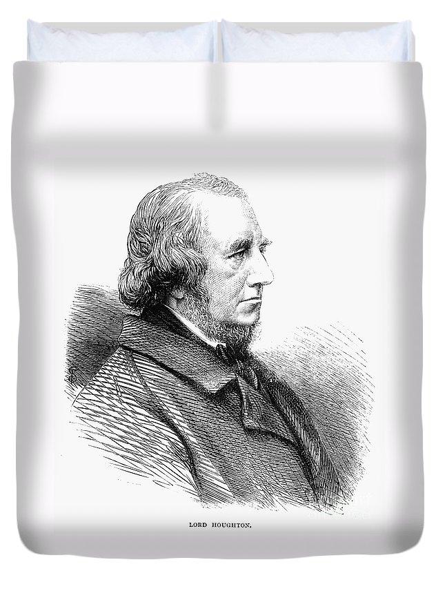 1865 Duvet Cover featuring the photograph Richard Monckton Milnes by Granger