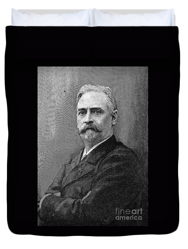 19th Century Duvet Cover featuring the photograph Richard Morris Hunt by Granger
