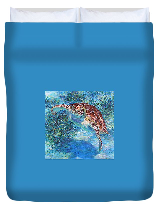 Acrylic Duvet Cover featuring the painting Rise by Li Newton