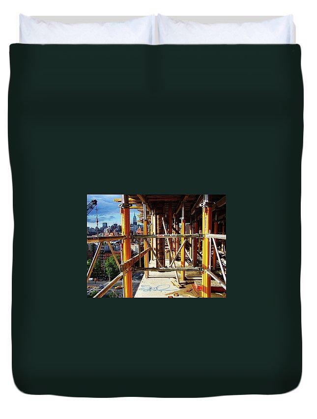 Loisaida Duvet Cover featuring the photograph Rising Loisaida by S Paul Sahm