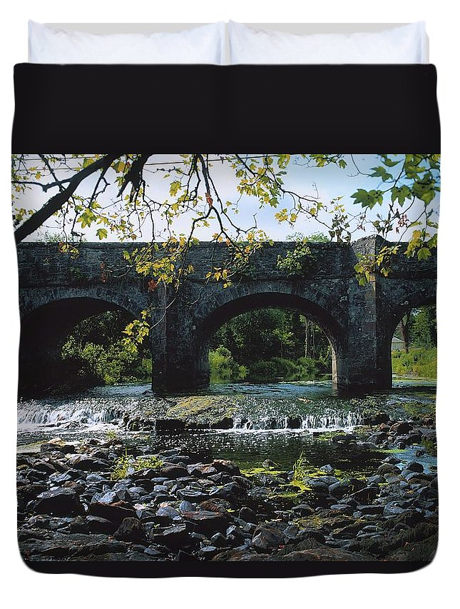 Arch Duvet Cover featuring the photograph River Annalee, Ballyhaise, Co Cavan by The Irish Image Collection