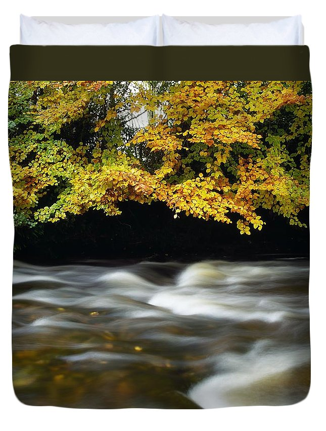 Autumn Duvet Cover featuring the photograph River Camcor by The Irish Image Collection