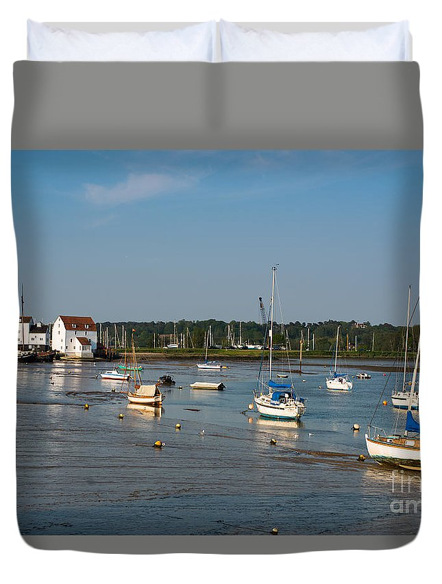 British Duvet Cover featuring the photograph River Deben Estuary by Andrew Michael
