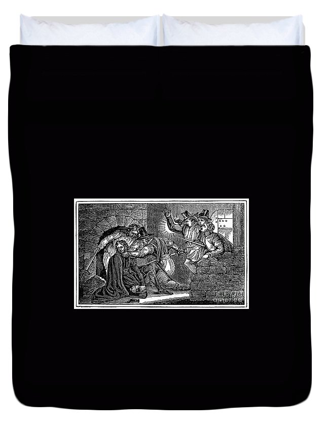 1605 Duvet Cover featuring the photograph Robert Catesby (1573-1605) by Granger