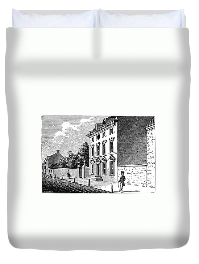 18th Century Duvet Cover featuring the photograph Robert Morris House by Granger