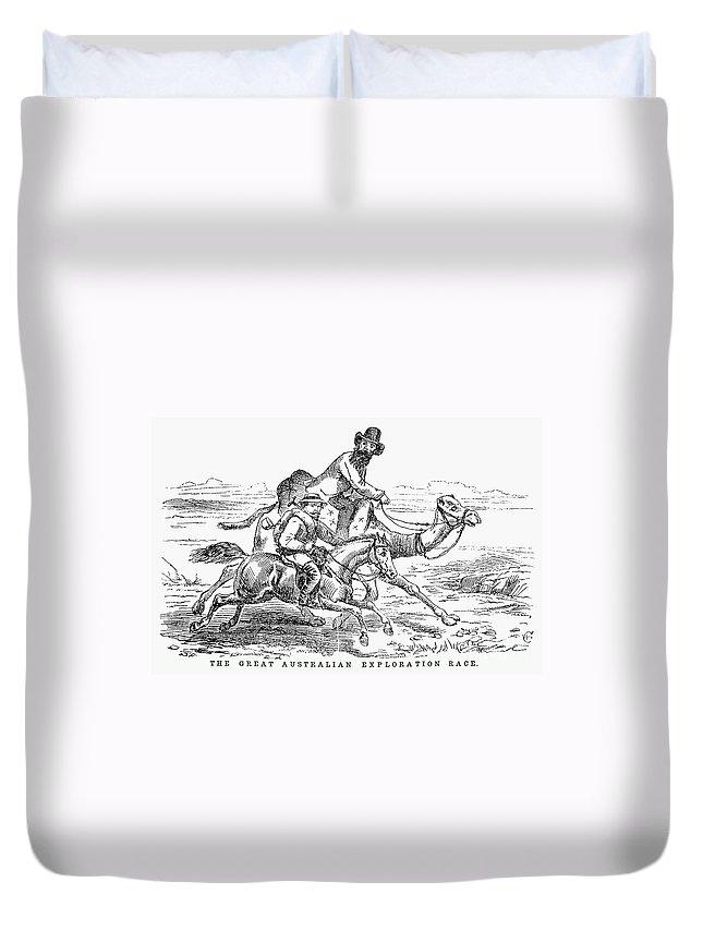 1860 Duvet Cover featuring the photograph Robert Ohara Burke by Granger