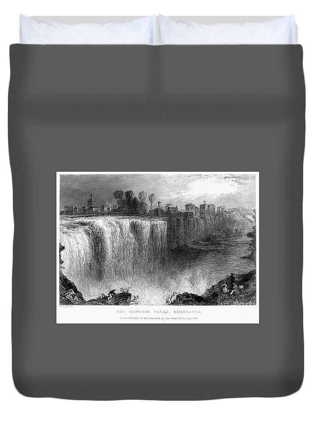 1838 Duvet Cover featuring the photograph Rochester: Genesee Falls by Granger