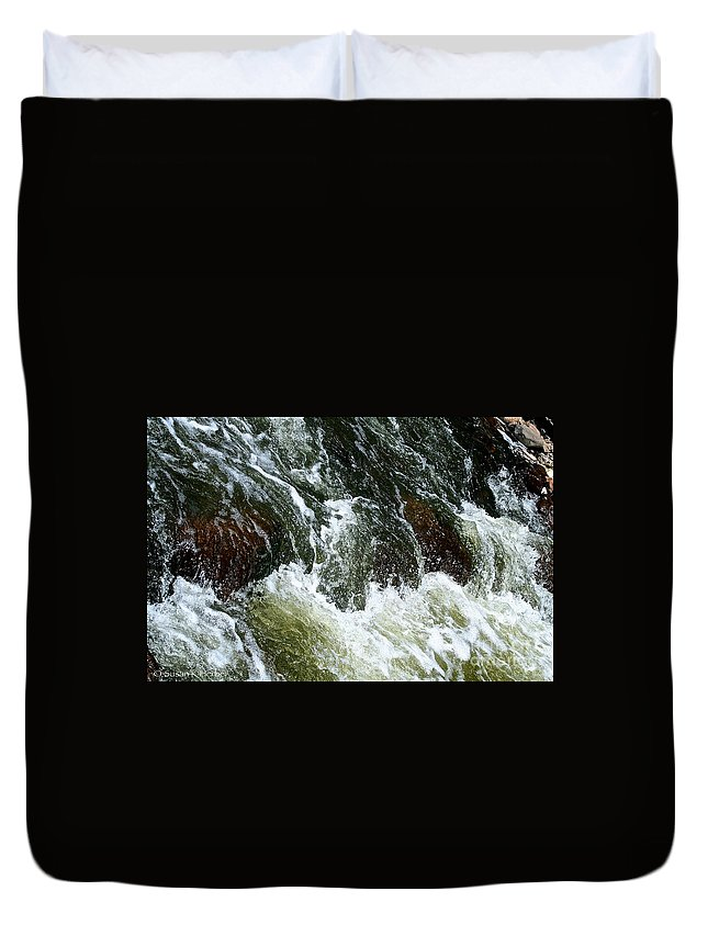 Outdoors Duvet Cover featuring the photograph Rock Tumbler by Susan Herber