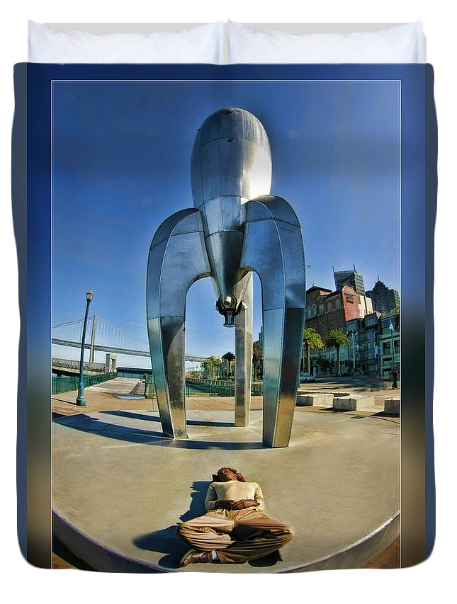 Art Photography Duvet Cover featuring the photograph Rocket Man by Blake Richards