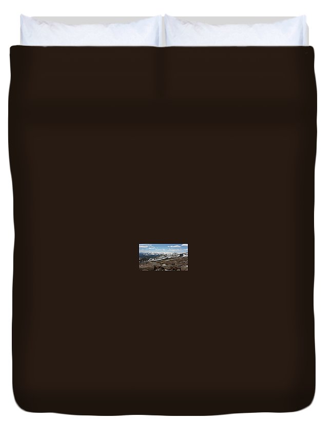 Landscape Duvet Cover featuring the photograph Rockyscape by Greg Plamp