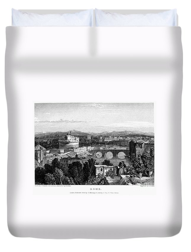 1833 Duvet Cover featuring the photograph Rome: Scenic View, 1833 by Granger