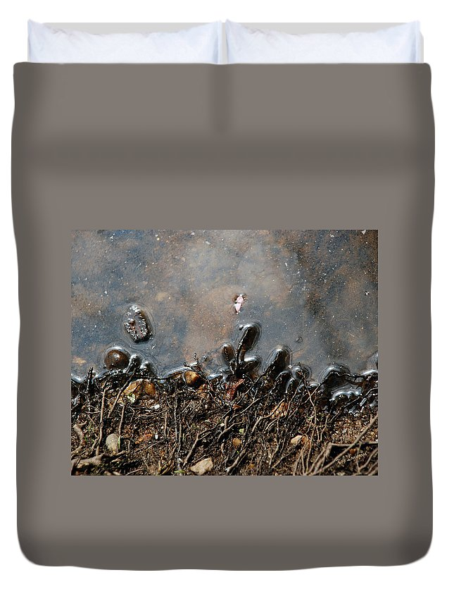 Roots Duvet Cover featuring the photograph Roots In Water by Kay Lovingood
