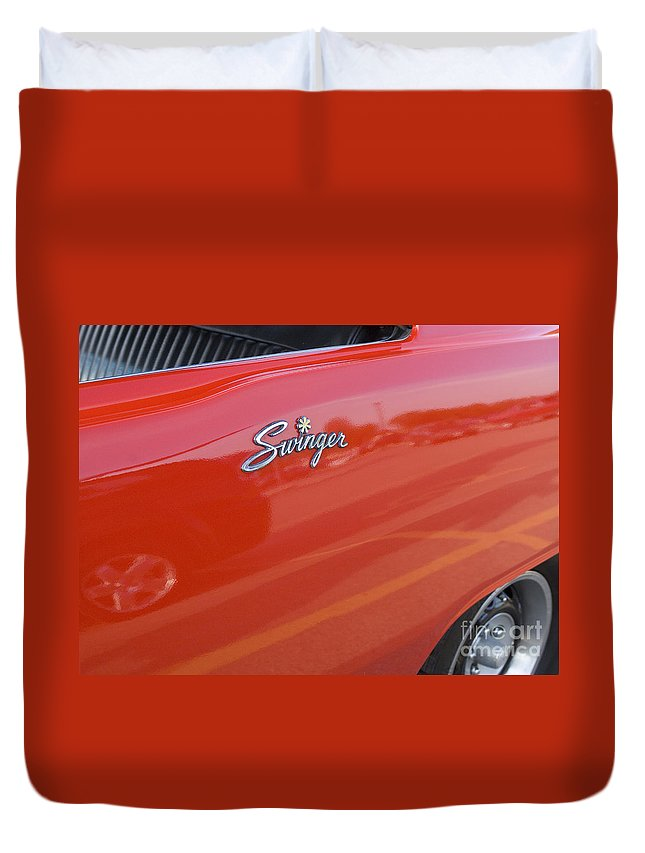 Classic Car Duvet Cover featuring the photograph Route 66 Swinger by Bob Christopher