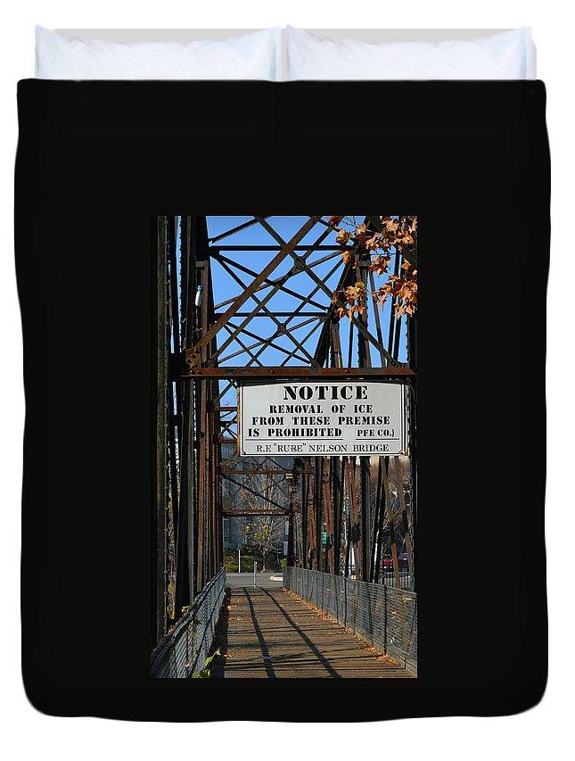 Bridge Duvet Cover featuring the photograph Rube Nelson Bridge 3 by Bill Owen