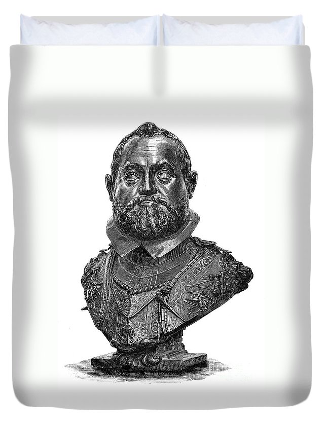 1607 Duvet Cover featuring the photograph Rudolf II (1552-1612) by Granger