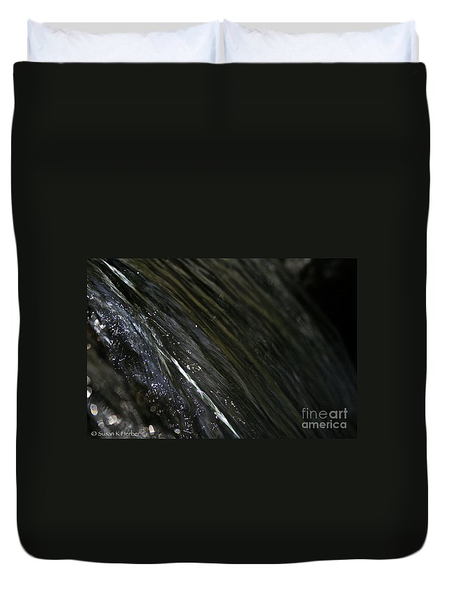 Outdoors Duvet Cover featuring the photograph Running Ribbon Water by Susan Herber