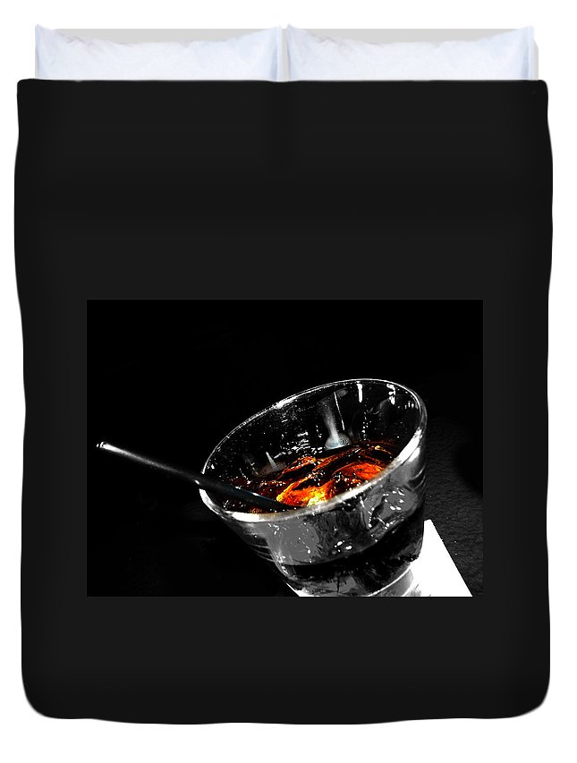 Elm Duvet Cover featuring the photograph Rye And Coke Please by The Artist Project