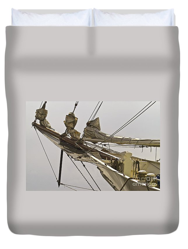 Maritime Duvet Cover featuring the photograph Sailing Ship by Heiko Koehrer-Wagner