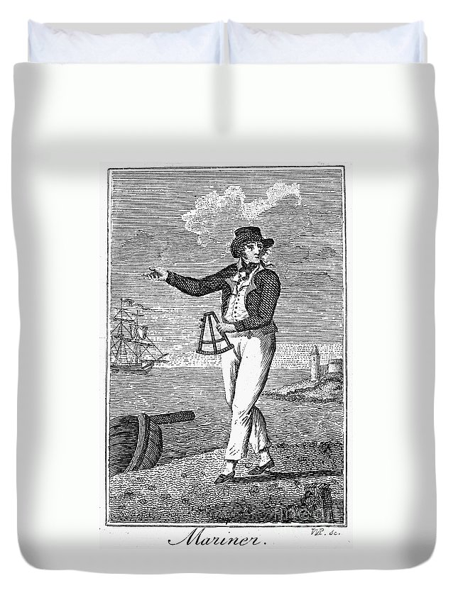 18th Century Duvet Cover featuring the photograph Sailor, 18th Century by Granger