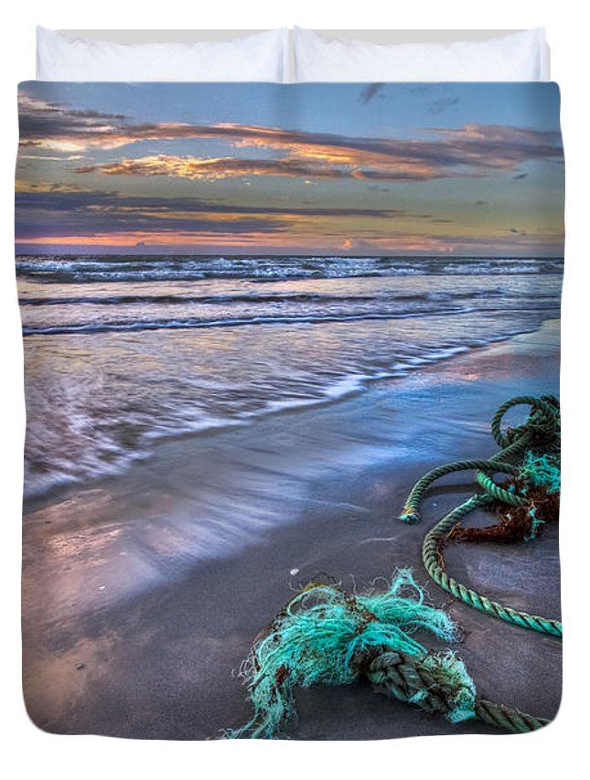 A1a Duvet Cover featuring the photograph Sailor's Knot by Debra and Dave Vanderlaan