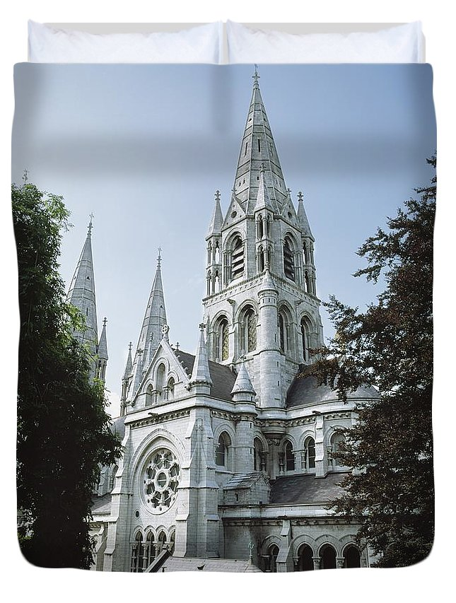 Architectural Exteriors Duvet Cover featuring the photograph Saint Finbarres Cathedral, Cork City by The Irish Image Collection