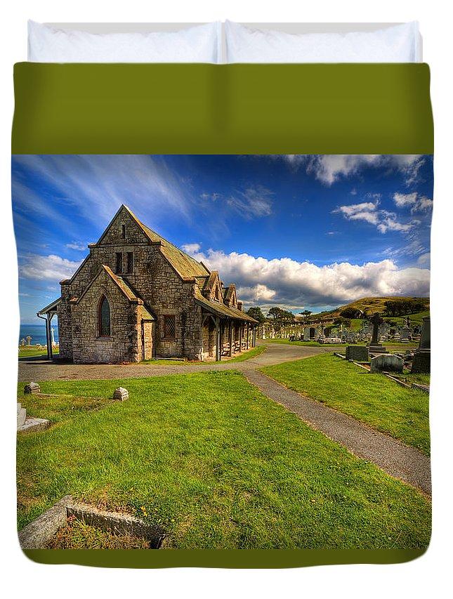 Saint Tudno Duvet Cover featuring the photograph Saint Tudno by Adrian Evans