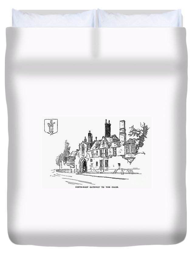 19th Century Duvet Cover featuring the photograph Salisbury Cathedral: Close by Granger