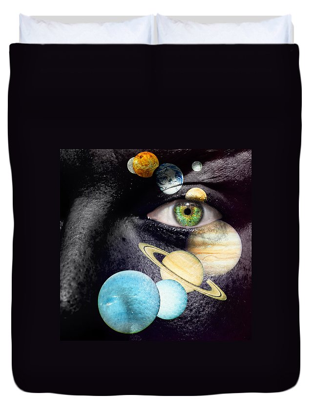 Art Duvet Cover featuring the photograph Same Universe by Semmick Photo
