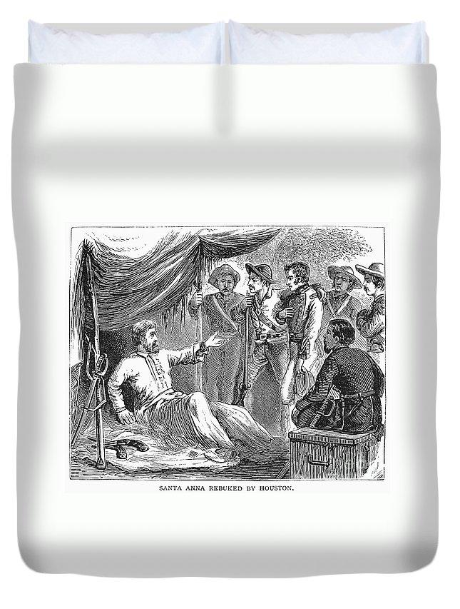 1836 Duvet Cover featuring the photograph Samuel Houston (1793-1863) by Granger