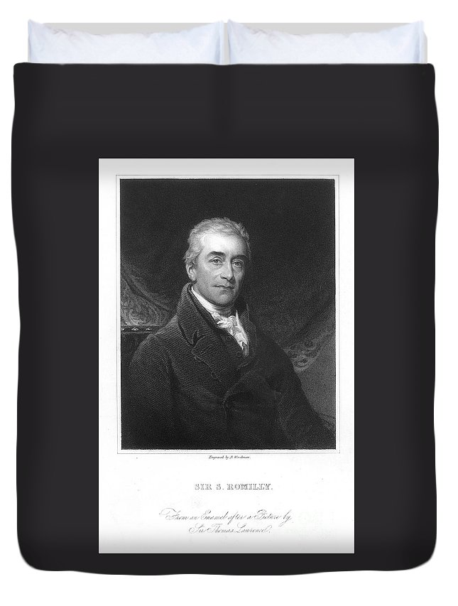 18th Century Duvet Cover featuring the photograph Samuel Romilly (1757-1818) by Granger