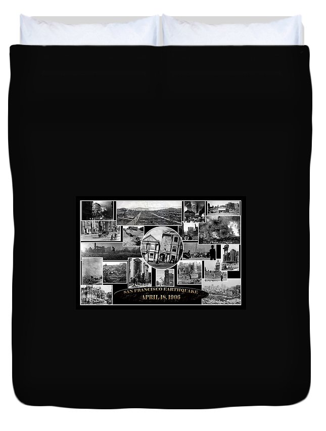 Earthquake Duvet Cover featuring the photograph San Francisco Earthquake by Andrew Fare