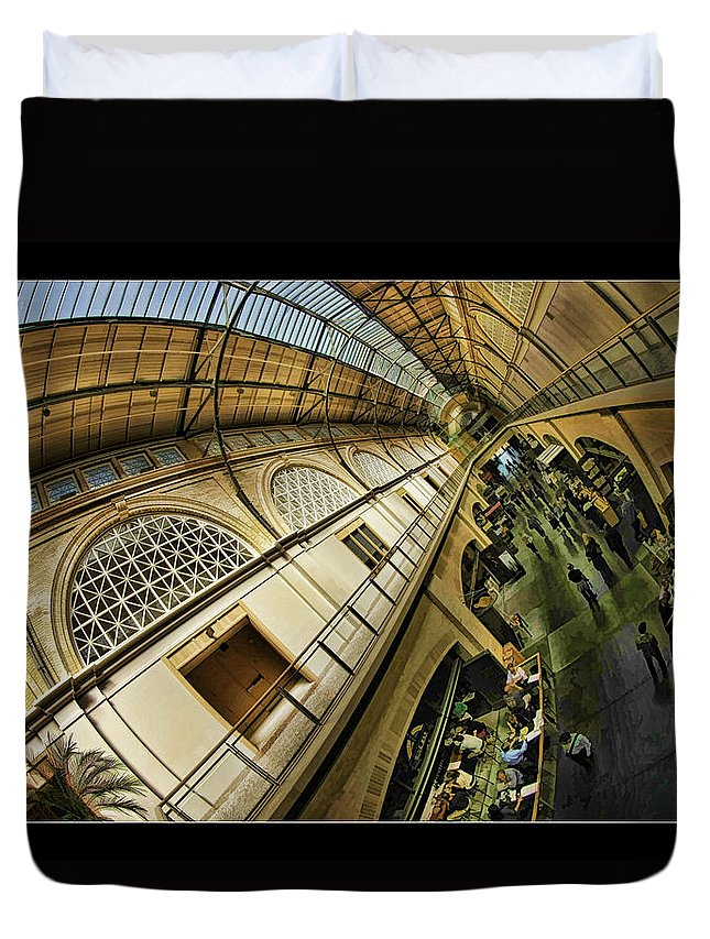 San Francisco Duvet Cover featuring the photograph San Francisco Ferry Building Interior by Blake Richards