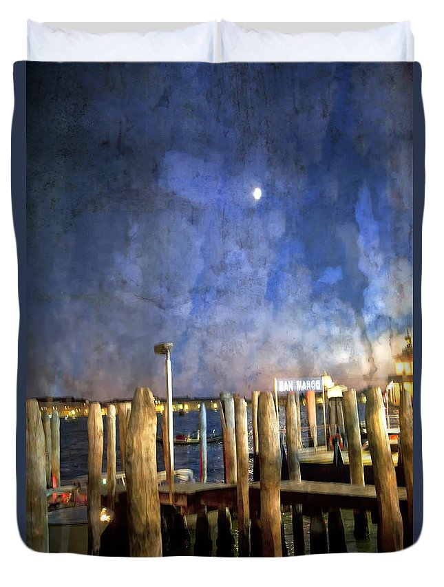San Marco Duvet Cover featuring the photograph San Marco Dream by Madeline Ellis