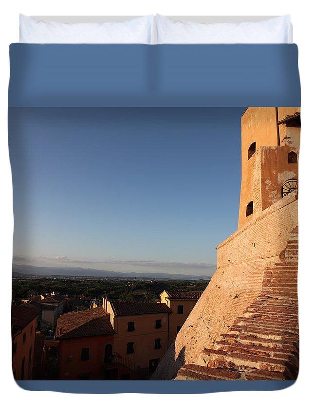 San Miniato Duvet Cover featuring the photograph San Miniato - Pisa by Francesco Scali