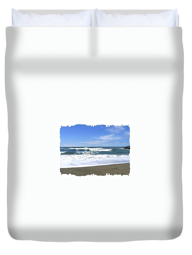 Seascape Duvet Cover featuring the photograph Sandy Shores Of Oregon by Will Borden