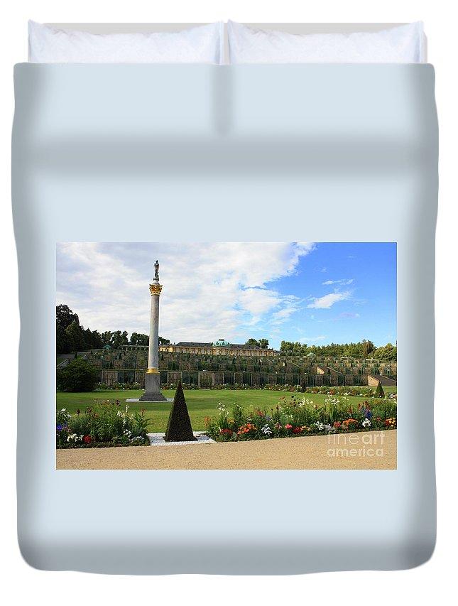 Sanssouci Garden Duvet Cover featuring the photograph Sanssouci Garden by Carol Groenen