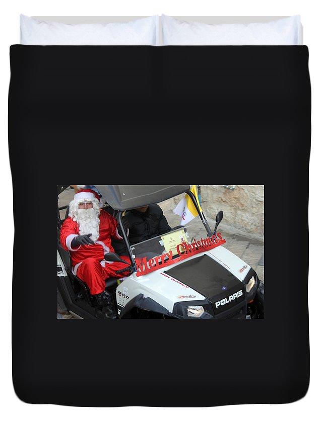 Santa Duvet Cover featuring the photograph Santa Calling You by Munir Alawi