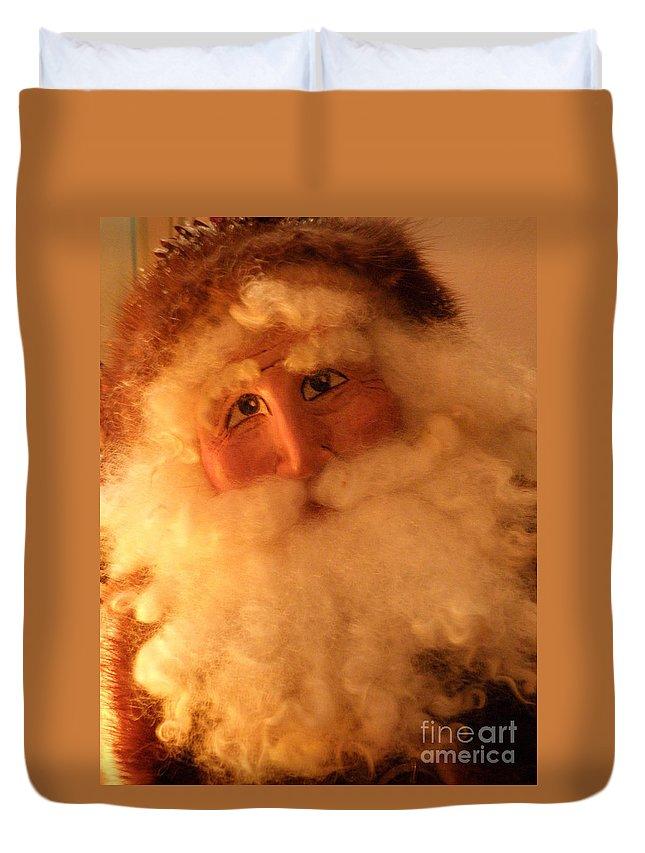 Santa Duvet Cover featuring the photograph Santa by Lainie Wrightson