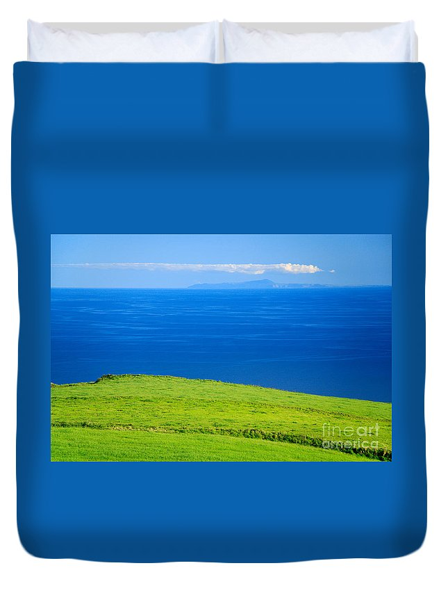 Azores Duvet Cover featuring the photograph Santa Maria And Sao Miguel by Gaspar Avila