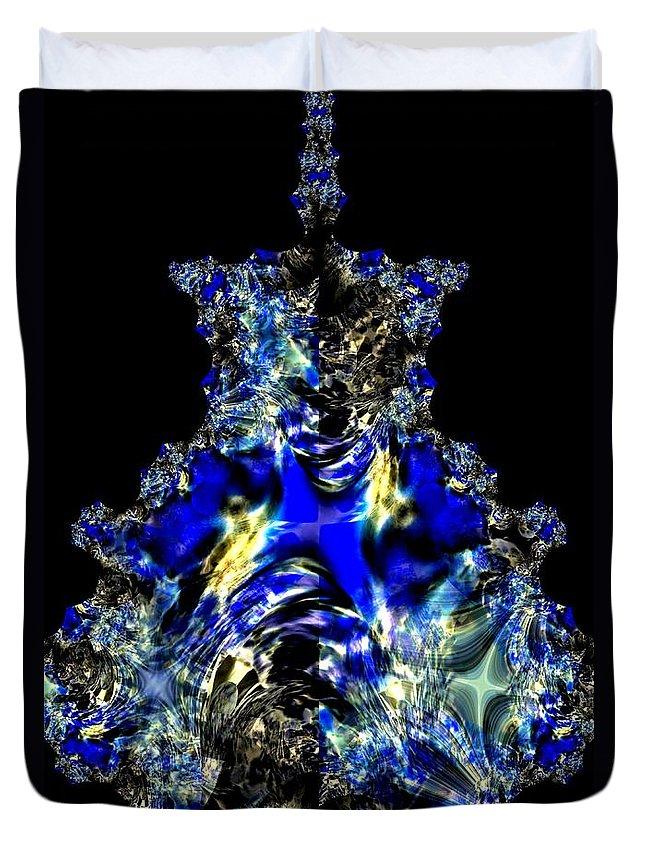 Sapphires Duvet Cover featuring the digital art Sapphires by Maria Urso