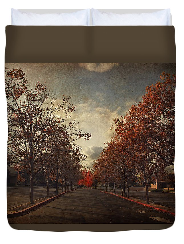 Trees Duvet Cover featuring the photograph Save The Best For Last by Laurie Search