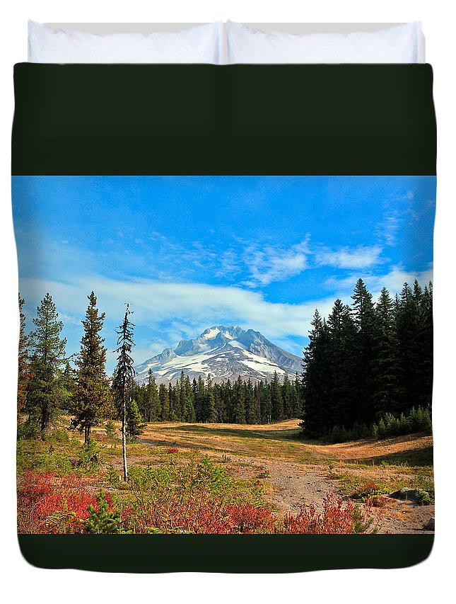Mount Hood Duvet Cover featuring the photograph Scenic Mt. Hood In Oregon by Athena Mckinzie