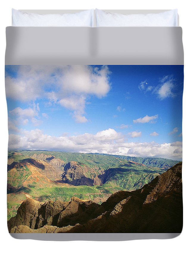 Above Duvet Cover featuring the photograph Scenic Waimea Canyon by Carl Shaneff - Printscapes