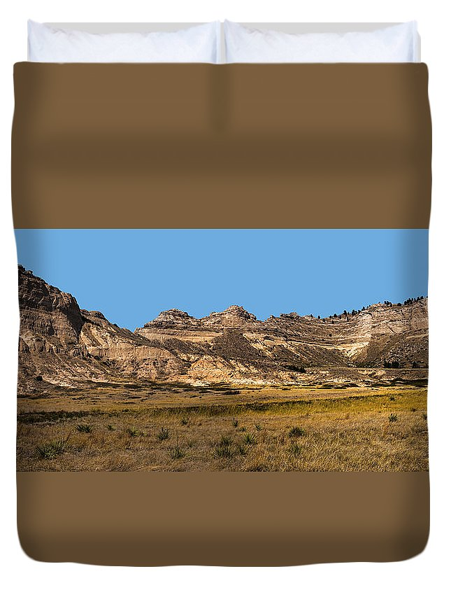 Scenic Western Nebraska Duvet Cover featuring the photograph Scenic Western Nebraska by Edward Peterson