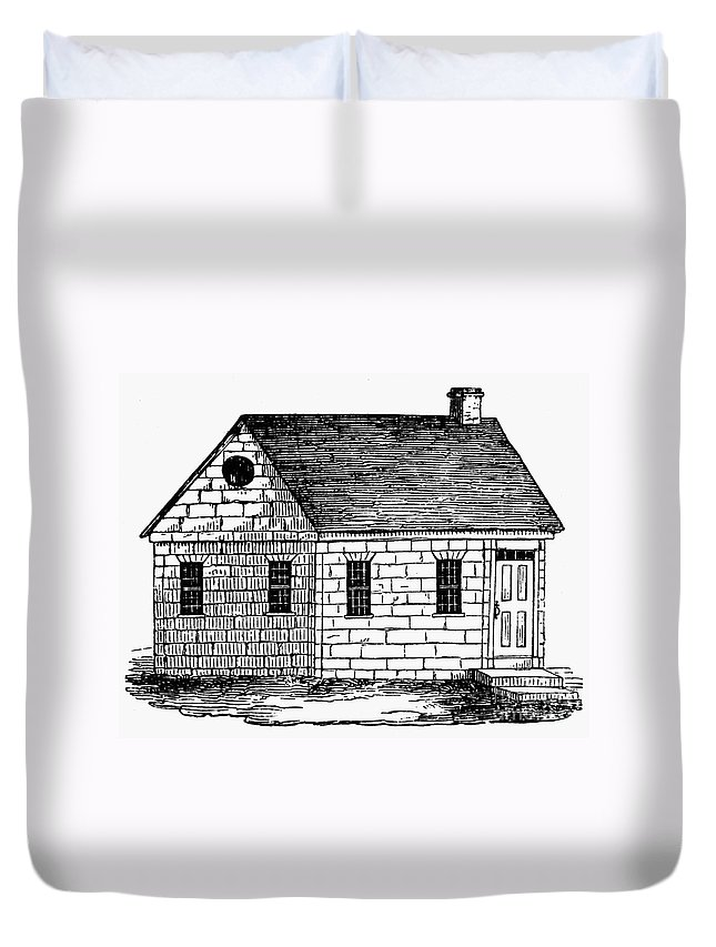 18th Century Duvet Cover featuring the photograph Schoolhouse, 18th Century by Granger