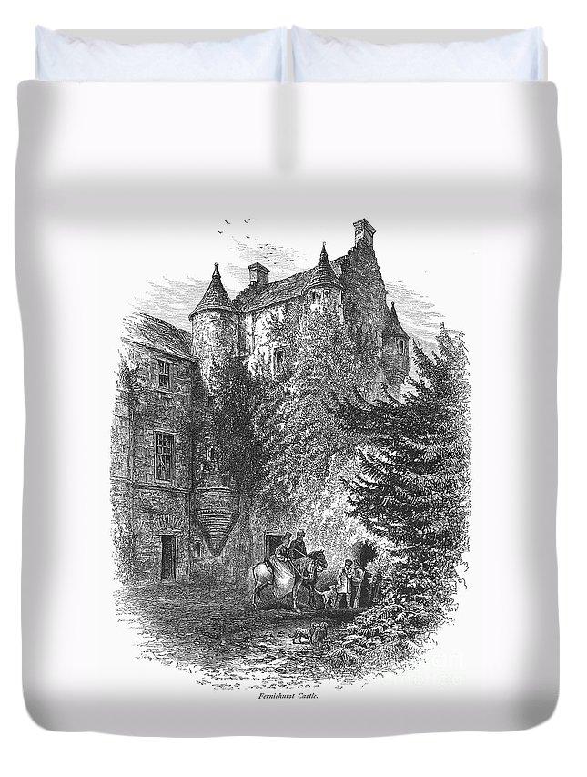 1875 Duvet Cover featuring the photograph Scotland: Castle by Granger